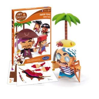 Art and créations paper toys pirati