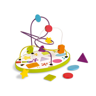 Looping puzzle shapes and colours