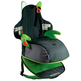 SEAT TO RAISE A CHILD - TRAVEL SEAT BOOSTAPAK BLACK GREEN