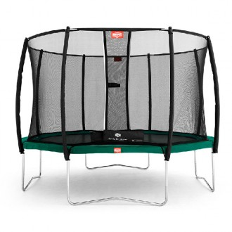Cama elástica berg favorit 330cm con red protectora safety net deluxe