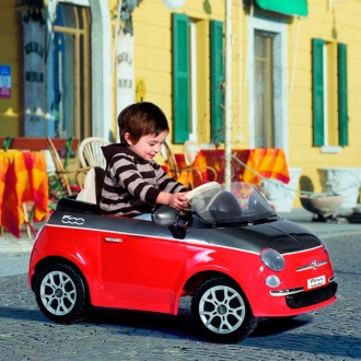 Fiat 500 red grey with remote control