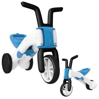 Walker and bicycle 2 in 1 bunzi stable balance ride-on blue
