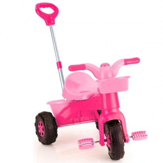Tricycle My First Trike parent with adjustable handle pink