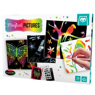Deluxe scratch art set combo
