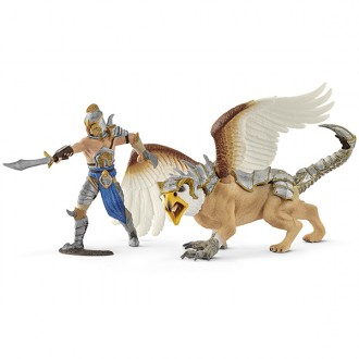 Figure Warrior with griffin