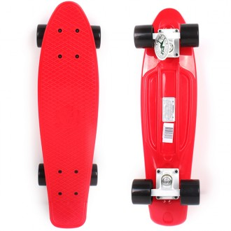 Skateboard penny red with black wheels