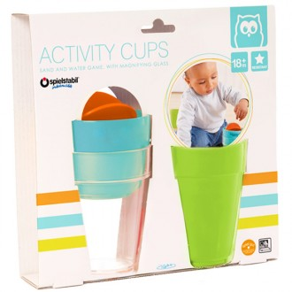 Activity Cups arena y agua