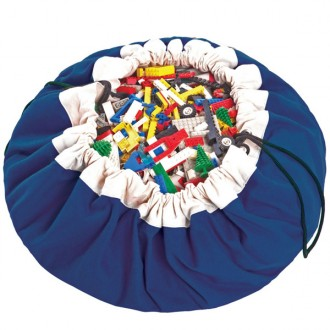 Blue Toy storage bag and play mat 2 in 1