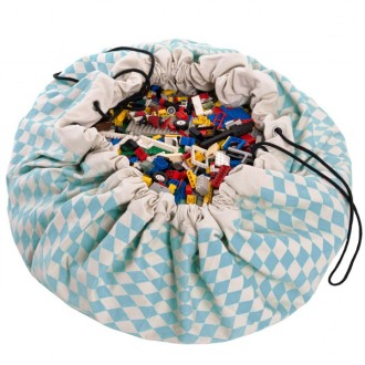 Diamond blue Toy storage bag and play mat 2 in 1