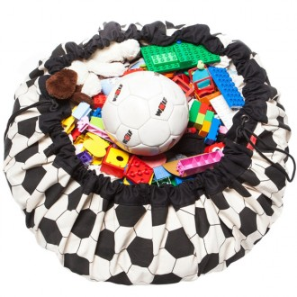 Football Toy storage bag and play mat 2 in 1