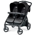 PEG PEREGO Twin Stroller book for two classic mod black