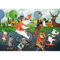 la-marelle-54-piece animal race jigsaw puzzle
