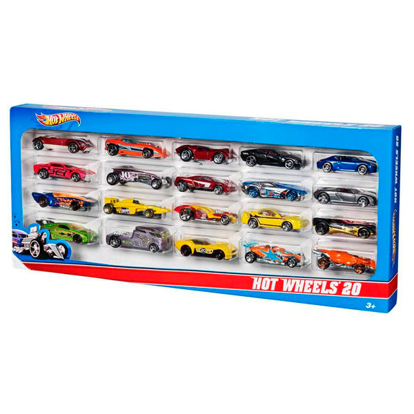 Pack de 20 vehículos de hot wheels