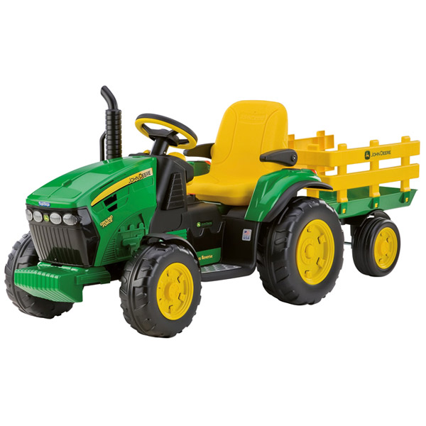John deere ground force con rimorchio