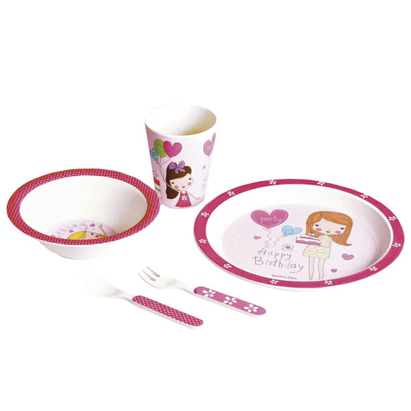 Set vajilla 5 piezas happy birthday