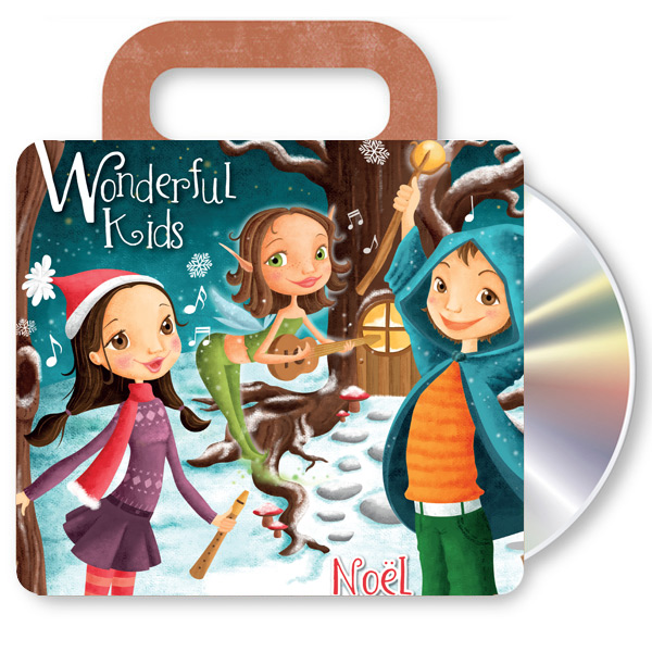 Cd música navidad wonderful kids francés