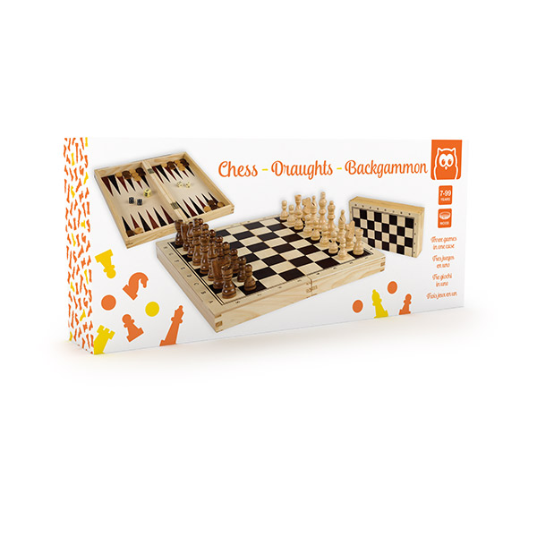 Chess and backgammon juego de ajedrez