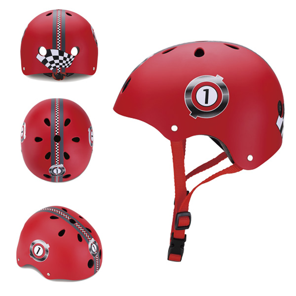 Casco junior racing rojo