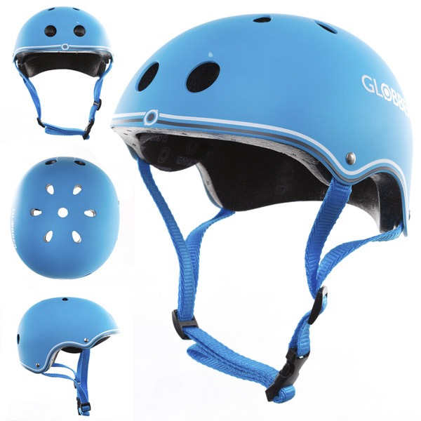 Casco junior azul cielo