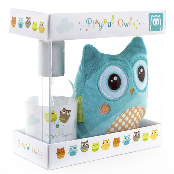 Pack colonia e peluche sonaglio  playful owls
