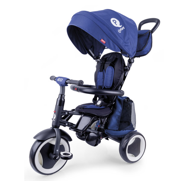 Triciclo qplay rito plus plegable azzurro