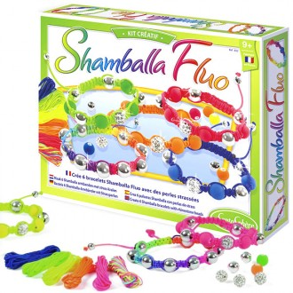 Set for doing shamballa bracelet in neon colors