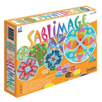 Sablimage mandala animais