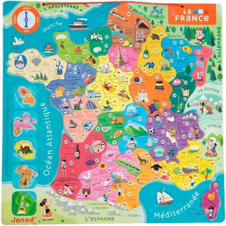 Puzzle magnetico Francia in francese