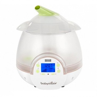 Humidificador digital verde y blanco
