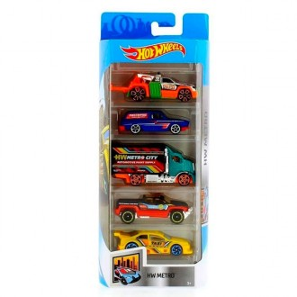 Hot Wheels Pack 5 veicoli
