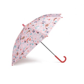 Guarda-chuva estampado coral