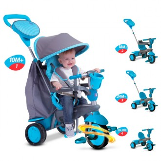 Smart trike swing azzurro evolutivo