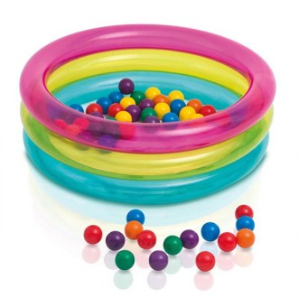 Piscina de bolas classic 3 ring baby ball pit
