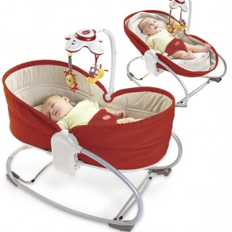 HAMAC 3 EN 1 ROCKER NAPPER ROUGE