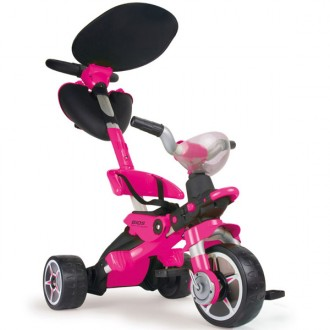 Triciclo bios color rosa convertible en patinete