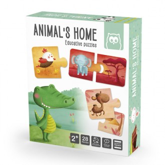 Animais Home puzzle educativo