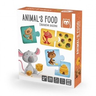 Animais Food puzzle educativa