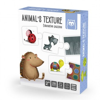 Animals Texture Montessori Puzzle