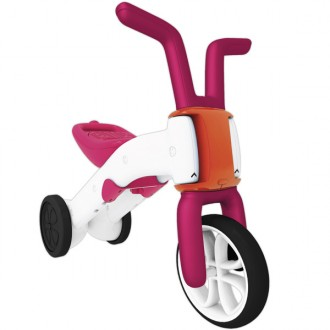 Andador e bicicleta 2 em 1 bunzi stable balance ride-on pink