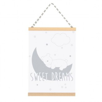 Quadro Sweet dreams grigio 42x30