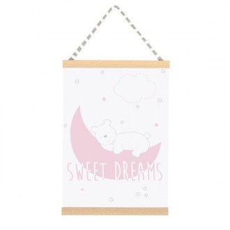Quadro Sweet dreams rosa 42 x 30