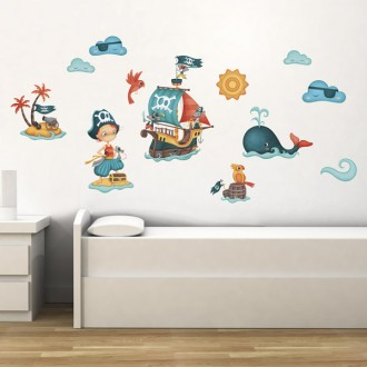 Stickers para pared Pirata