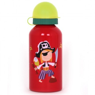 Botella cantimplora Pirata en color Rojo