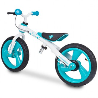 Bicicleta sem pedais training bike azul
