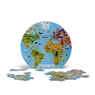 Puzzle esférico do mundo