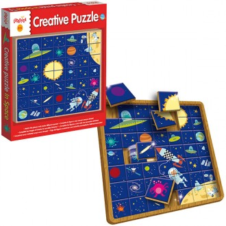 Puzzle Creativo madera In Space