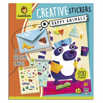Stickers happy animals