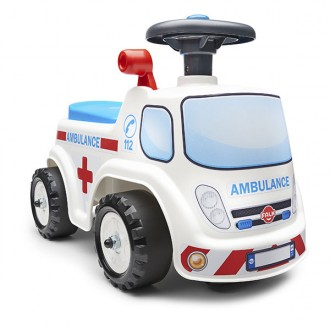 Cavalcabile ambulanza blu