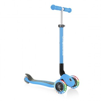 Patinete Primo Foldable Lights azul cielo
