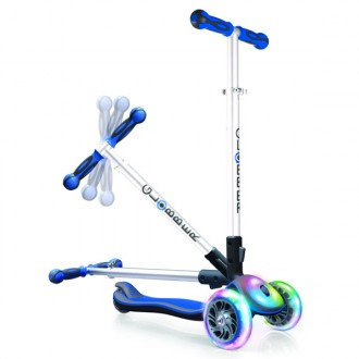 Patinete Elite Multi luces azul